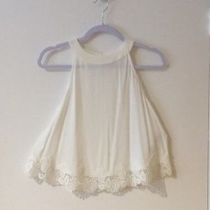 Abercrombie & Fitch white sleeveless blouse. Small